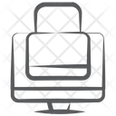 System Lock Secure Computer Private Computer Icon