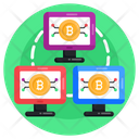 Computer Network System Network Bitcoin Network Icon