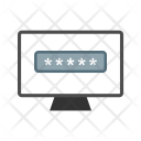 System Password Laptop Icon