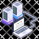 Shared Hosting System Storage System Data Icon
