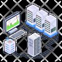 Data Display System Storage Racks Data Racks Icon