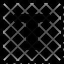 T Uppercase Latin Icon