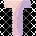 T Sign Alphabet Icon