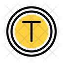 T Juction Way Road Icon