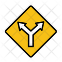 T Junction Intersection Intersection Road Icon
