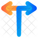 T Junction Junction Arrows Icon