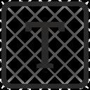 Uppercase T Alphabet Icon