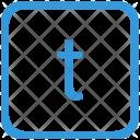 Key T Lower Icon