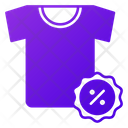 T Shirt Discount Shirt Discount Clothe Discount Icon