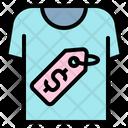 T Shirt Price Dollar Tag Shirt Icon
