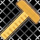T Square Carpenter Tool Ruler Icon