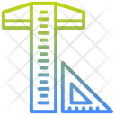 T Square Carpenter Scale Ruler Icon
