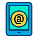 Tablet Online Message Mail Icon