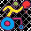 Table Tennis Wheelchair Icon