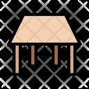 Table Stool Interior Icon
