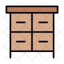 Table Interior Drawer Icon