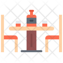 Table Chair Bottle Icon