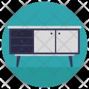 Table Drawers Bureau Icon