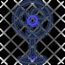 Pedestal Fan Stand Fan Charging Fan Icon