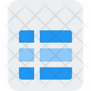 Table File File List Icon