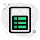 Table File Icon