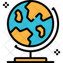 Earth Globe Planet World Map Geography Icon