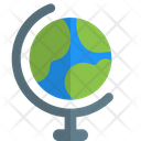 Table Globe Geography Office Globe Icon
