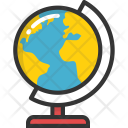 Table Globe Map Icon