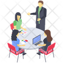 Group Discussion Business Communication Business Meeting Icon