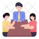 Table Talk Meeting Icon