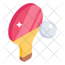 Table Tennis Racket Ball Icon