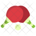 Table Tennis Ping Pong Racket Icon