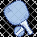 Table Tennis Racket Sport Icon