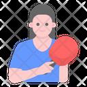 Sports Man Table Tennis Player Athlete Icon