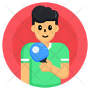 Sportsman Player Table Tennis Player Icon