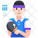 Table Tennis Player Icon