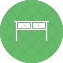 Table With Drawers Icon