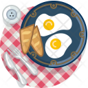 Baguette Eggs Lunch Icon