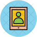 Tablet User Screen Icon