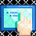 Tablet Finger Tablet Technology Icon