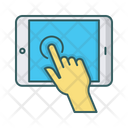 Tablet Hand Touchscreen Icon