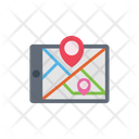 Tablet Location Map Icon
