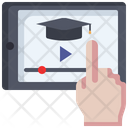 Tablet Video Education Icon
