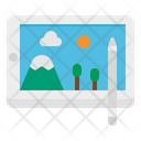 Tablet Pen Writing Icon
