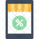 Tablet Store Discount Icon