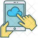 Tablet Cloud Data Icon