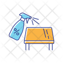 Tabletop Cleaning Sterilization Sanitation Icon