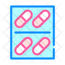 Pills Package Color Icon