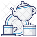 Tea Set Porcelain Icon