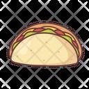 Food Taco Maxican Icon